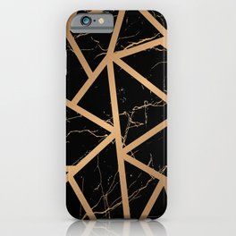 Gold Marble Mosaic iPhone Case