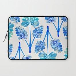 Tropical Palm Leaf Trifecta – Blue Ombré Palette Laptop Sleeve