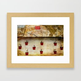 Gibraltar Fire Buckets Framed Art Print