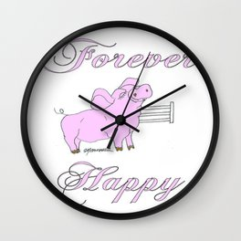 Forever Happy Wall Clock