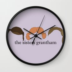 The Sisters Grantham: Downton Abbey Wall Clock