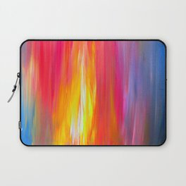 BRIGHT HORIZONS Bold Colorful Rainbow Pink Yellow Blue Abstract Painting Sunrise Sunset Stripes  Laptop Sleeve