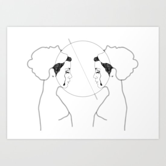 broken mirror Art Print