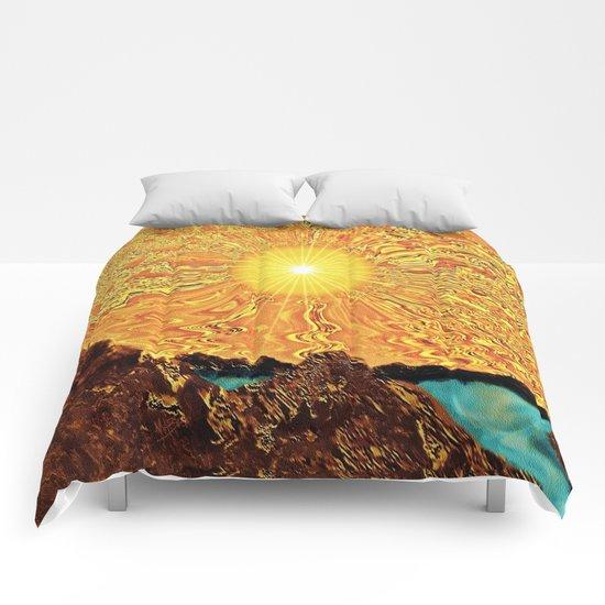 New Day, Same Sun Comforters