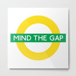 NCFC - Mind The Gap Design Metal Print