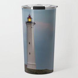 Lighthouse Sunset Landscape Travel Mug