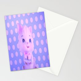 Polka dot kitty  Stationery Cards