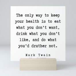97      Mark Twain Quotes   190730 Mini Art Print