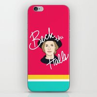 cassia beck iPhone & iPod Skins featuring Beck the Halls by Chelsea Herrick