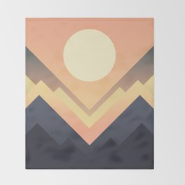 The Sun Rises Throw Blanket