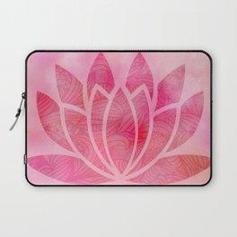 Zen Watercolor Lotus Flower Yoga Symbol Laptop Sleeve
