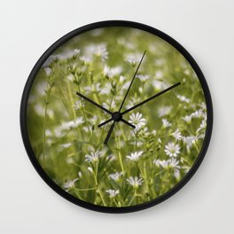 Summer meadow flowers Wall Clock
