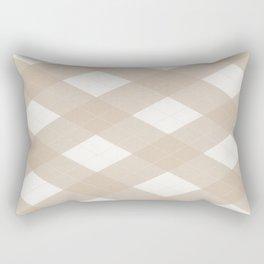 Pantone Hazelnut, Tan Argyle Plaid, Diamond Pattern Rectangular Pillow