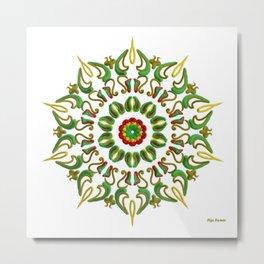 Mandala Reggae al amanecer Metal Print