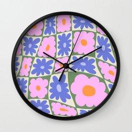 Floral seven Wall Clock