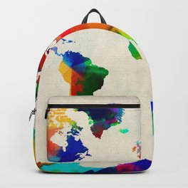 Map of the World Map Painting Backpack
