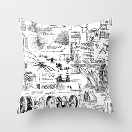 Da Vinci's Sketchbook Throw Pillow