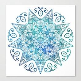 Calm Tangles Canvas Print