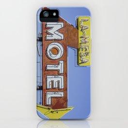 La-Mesa Motel iPhone Case