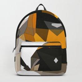 Bumble bee artwork Geomeric art Yellow and black Bee Midern design Backpack