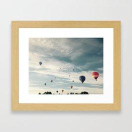 Airborne, Hot Air Balloon Festival Framed Art Print
