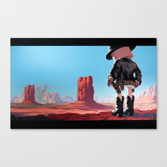 End of Film Canvas Print