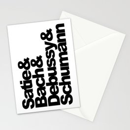 Satie and Bach and Debussy and Schumann Stationery Cards