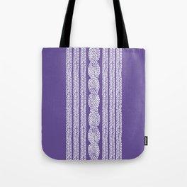 Cable Stripe Violet Tote Bag