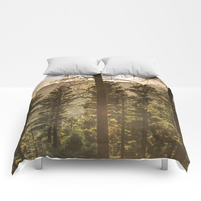 Mountain Forest New Mexico - Nature Photography Comforters