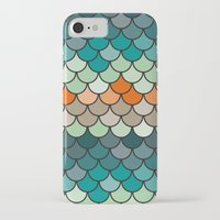 scales iPhone & iPod Cases featuring Scales by Pattern Design