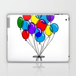 A Bouquet of Multi-Colored Balloons tied in a Bow Laptop & iPad Skin