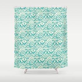 lezat turquoise Shower Curtain