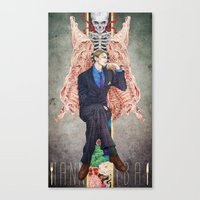 hannibal Canvas Prints featuring Hannibal by Chillalee