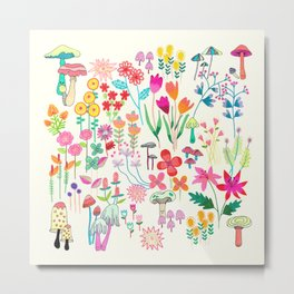 The Odd Floral Garden I Metal Print