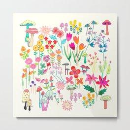 The Odd Floral Garden I Metal Print