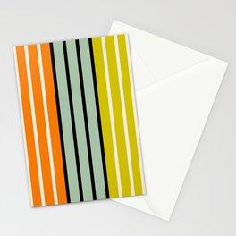 Retro Stripes V Stationery Cards