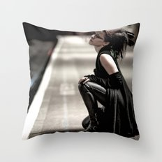 Gothic Ninja Throw Pillow
