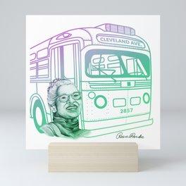 Rosa Parks, Courageous Woman Mini Art Print