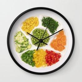 Fancy veggies Wall Clock