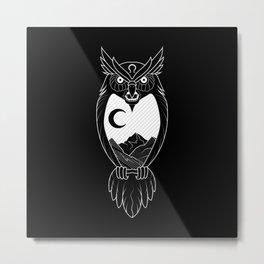 Screech - Black Metal Print