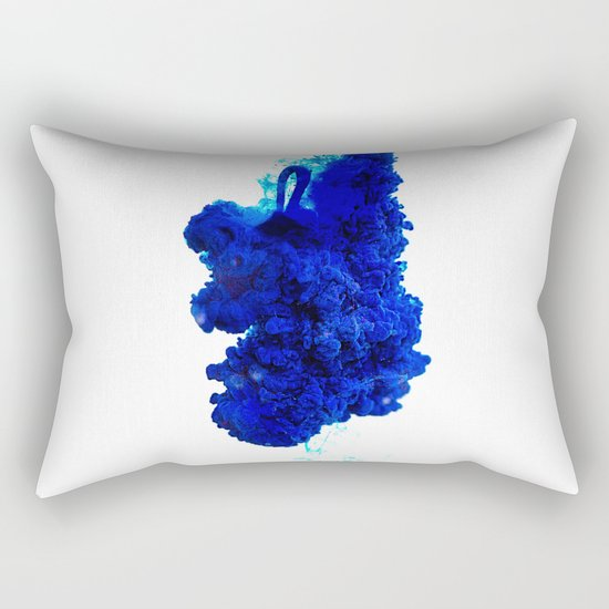 INDIAN INK IN WATER / COBALT Rectangular Pillow