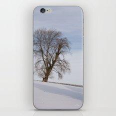 In white iPhone Skin