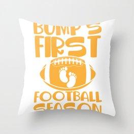 Bump's First Football Season Sport Pregnant Mother Throw Pillow