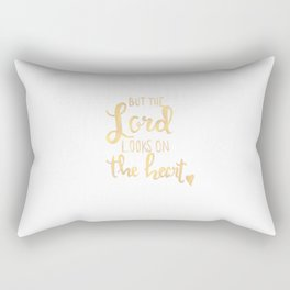 The Lord Looks On The Heart Rectangular Pillow