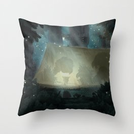 A vulture's nightmare Throw Pillow