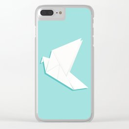 Origami pigeon Clear iPhone Case