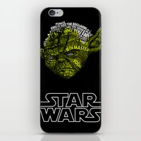 yoda iPhone & iPod Skins featuring Yoda by Stormega