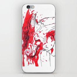 Smashed Head iPhone Skin