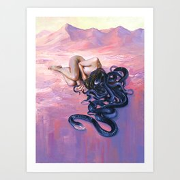 Sleeping Sands Art Print