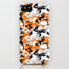Orange Camouflage Pattern iPhone Case